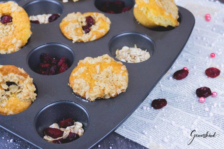 Mini-Cranberry-Streusel-Muffins